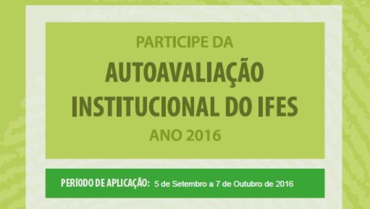 Participe da Autoavaliação Institucional do Ifes