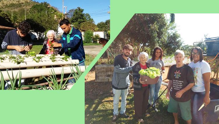 Projeto de extensão do Campus de Alegre leva peixes e hortaliças para idosos de Jerônimo Monteiro