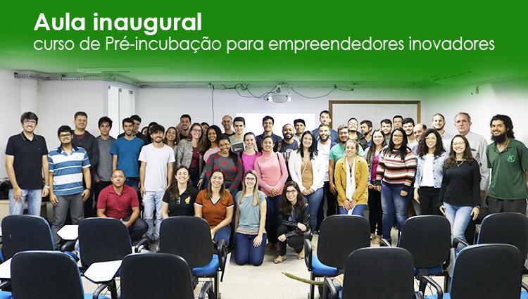 """Incubadora Sul Capixaba realiza aula inaugural do curso de """"Pré-incubação para empreendedores inovadores"""""""
