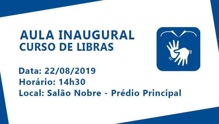 Aula inaugural do curso de Libras