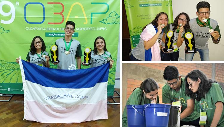 Equipe do Campus de Alegre ganha medalha de ouro na OBAP 2019