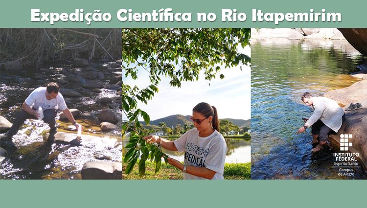 Professores do Ifes - Campus de Alegre participam da Expedição Científica no Rio Itapemirim