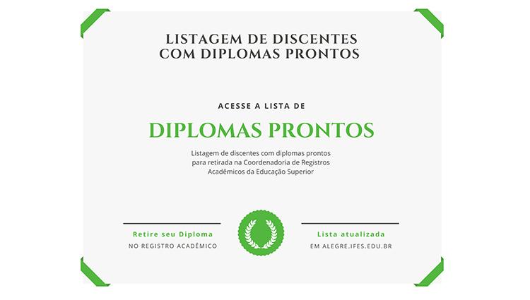 Listagem de Diplomas Prontos