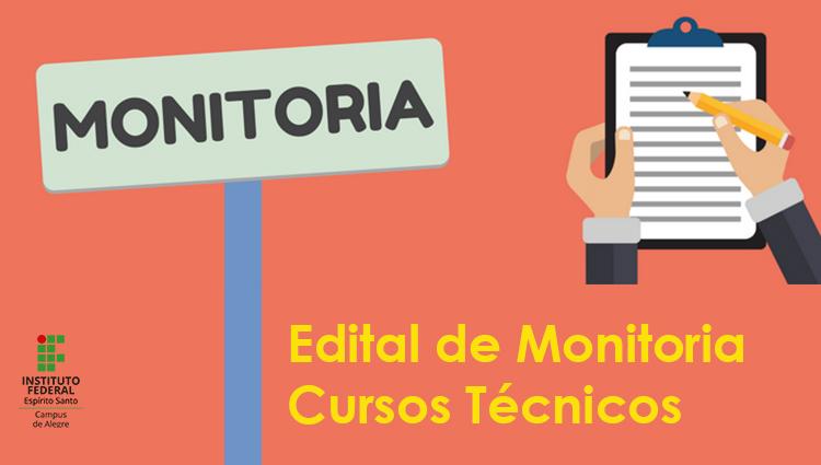 Edital 02/2019 - Monitoria dos Cursos Técnicos