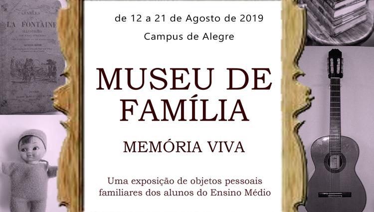 Museu de Família será aberto à visitação no dia 12/08
