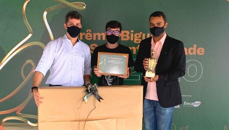 Projeto de aquaponia do Campus de Alegre recebe prêmio da TV Gazeta Sul