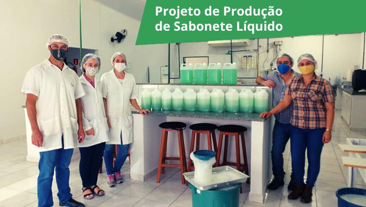 Campus de Alegre faz entrega de sabonete líquido