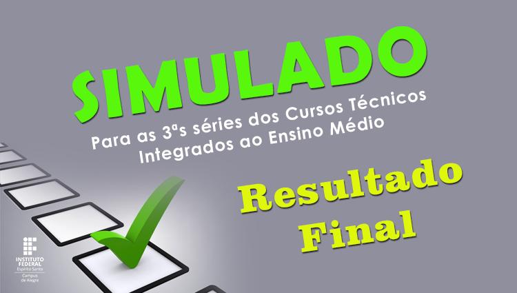 Informativo: Simulado para as 3ªs séries dos Cursos Técnicos Integrados