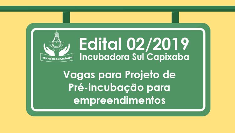 COMUNICADO - Projeto de Pré-incubação para empreendimentos – residente e não-residente