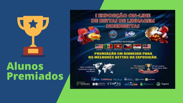 Discentes do curso de Engenharia de Aquicultura são premiados em exposição online