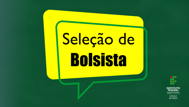 Edital nº 01/2019 - seleção de bolsista para atuar em ações de extensão