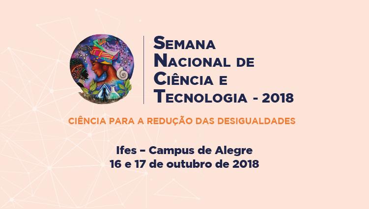 Semana Nacional de Ciência e Tecnologia - Confira a programação