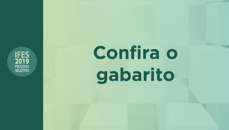 Ifes divulga gabaritos das provas do Processo Seletivo 2019